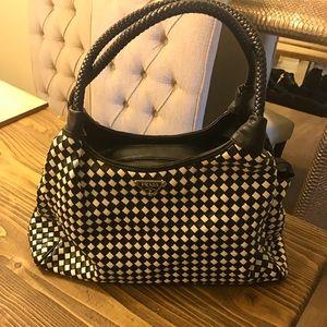 Handbags - Textured black and white Prada print